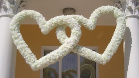 Бумажные декорации для свадьбы