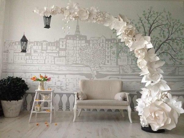 1420326213HT1WIKuSib8 Бумажные декорации для свадьбы