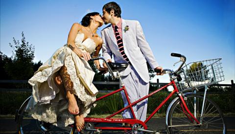 """Фотолист №7-10 вариантов """"свадьба на велосипедах"""""""