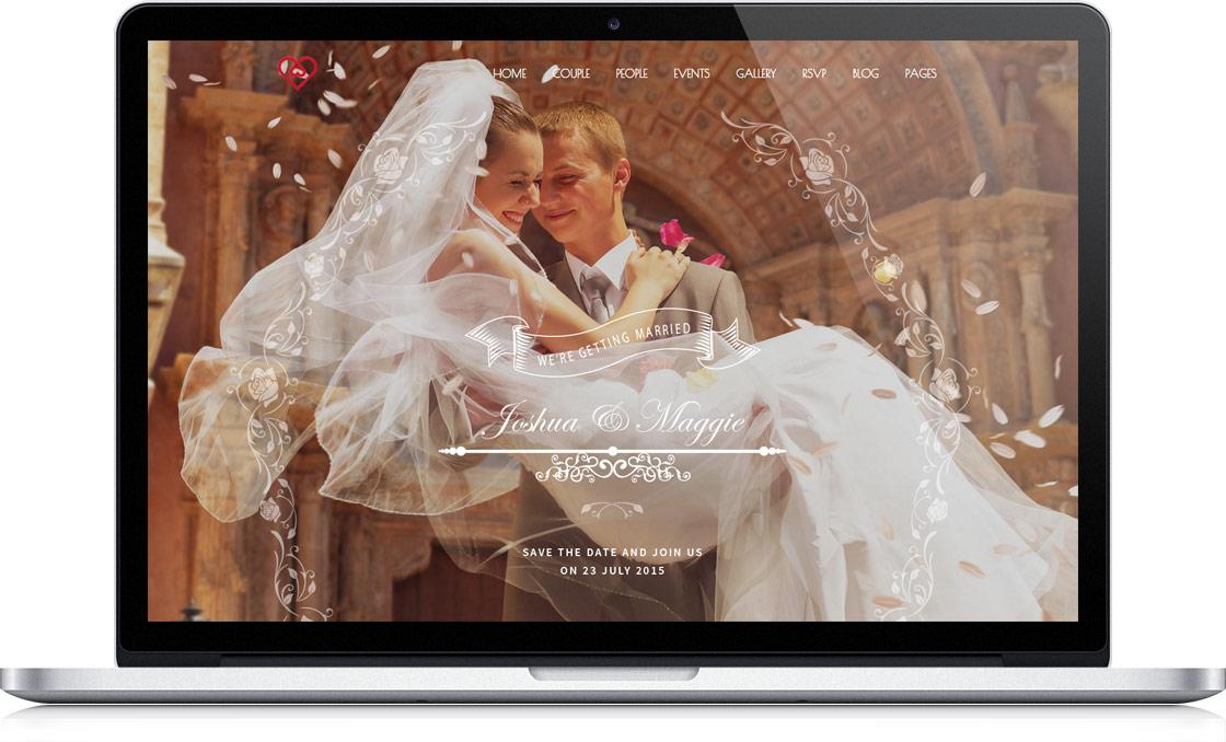 variant-dizajna-svadebnogo-sajta-Roza Создать свой свадебный сайт и пригласить друзей