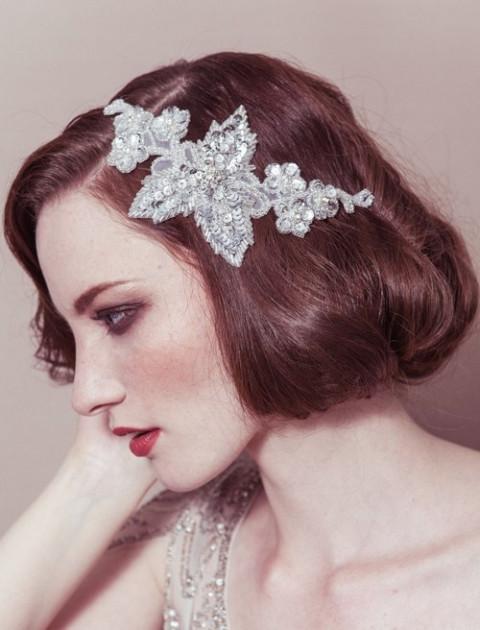 Свадебные украшения на голову от Debbie Carlisle