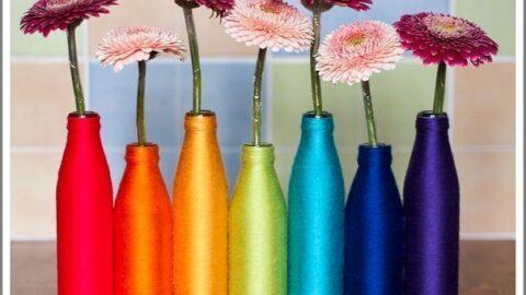 Мастер- класс: радужные вазы для оформления