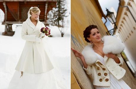 svadebnoe-palto-s-mehom Выбираем свадебное пальто для невесты