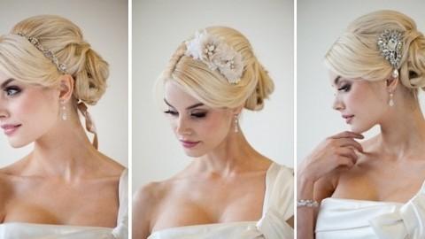 Цветочные гребни  для прически невесты: используем гребень для свадебной прически.