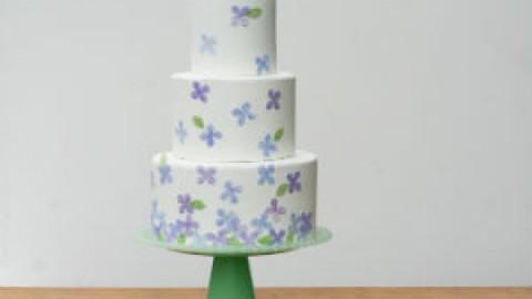 Мастер-класс: Декор торта в акварельном стиле своими руками