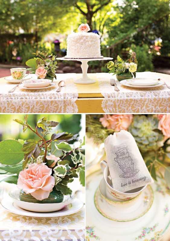1-svadba-v-stile-chaya-1 Восхитительная винтажная свадьба в стиле зеленого чая, с нотками романтики и нежности