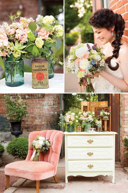 svadba-v-stile-chaya-2-1 Восхитительная винтажная свадьба в стиле зеленого чая, с нотками романтики и нежности