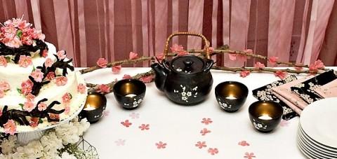 Цветы сакуры своими руками для декора тематической свадьбы или девичника
