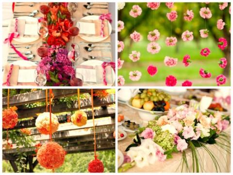 Гирлянды из цветов на свадьбу, простой способ придать торжеству особую атмосферу