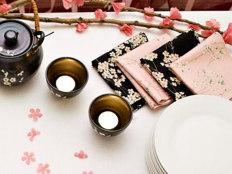 Удивительный нежный и романтичный девичник в стиле цветов сакуры