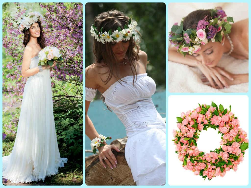 ochen-krasivyj-venok-dlya-nevesty-na-svadbu-1024x768 Венки на голову из цветов на свадьбу, нежный свадебный аксессуар для волос невесты