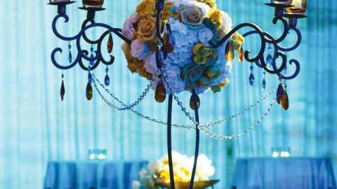 Синяя цветовая гамма в оформлении свадьбы, как выбрать правильные оттенки