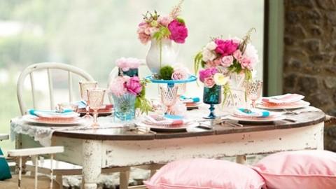 Винтажная свадьба в розово-голубом цвете подбираем декор для выездной церемонии