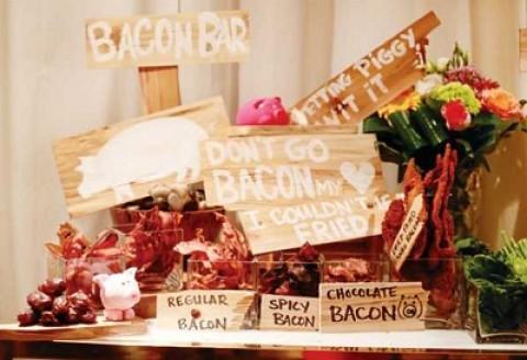 Организуем на своей свадьбе необычные десертный стол с закусками и угощениями