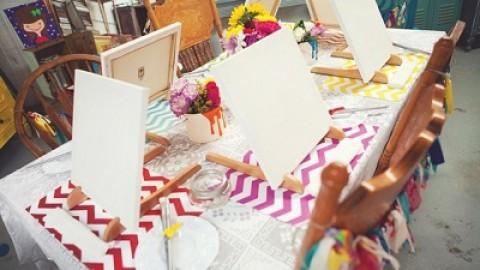 Удивительный и яркий девичник для художницы, интересные идеи по организации