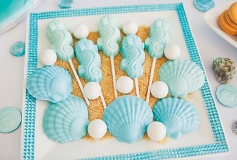 Создаем красивый морской Кэнди Бар на летней свадьбе своими руками