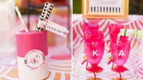 Дитя заката – розовый фламинго, как тематика свадебного торжества
