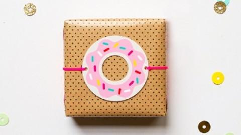 Пончики в декоре свадьбы + бесплатные макеты для печати