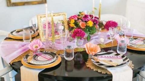 Сочетаем черный, золотой и розовый цвет на девичнике в гламурном стиле
