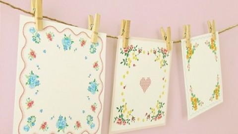 Украшаем свадьбу самодельными бумажными салфетками в старинном стиле