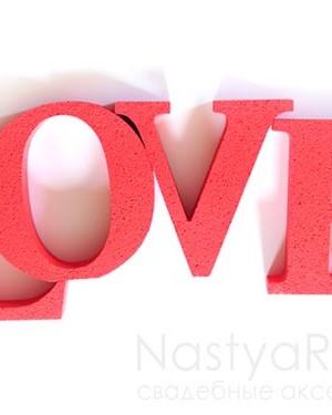 продажа Большое слово LOVE красное