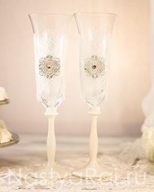 продажа Фужеры под шампанское с кружевом