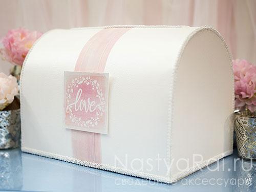 "продажа Коробка для конвертов ""Розовая акварель"""