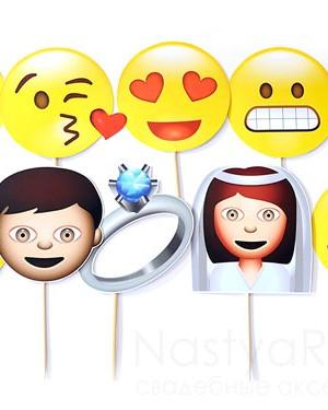продажа Набор 10 масок в виде смайликов
