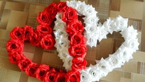 Цветы из лент на свадьбу своими руками фото