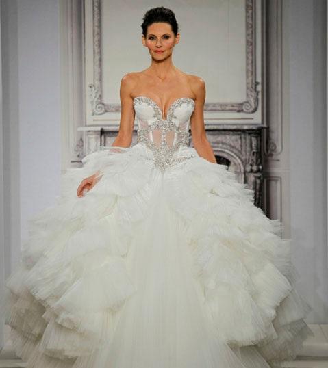 1418680523svadebnyeplatyapninatornai201411 Коллекция свадебных платьев от Pnina Tornai