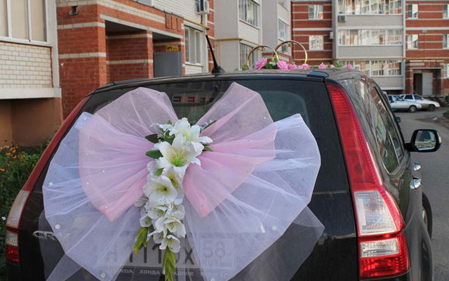 Украсить машину для свадьбы своими руками 6