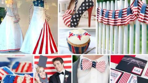 """Свадьба в стиле """"Американский флаг"""": несколдько идей и советов"""