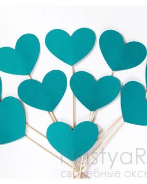продажа Бирюзовые сердечки для фотосессии