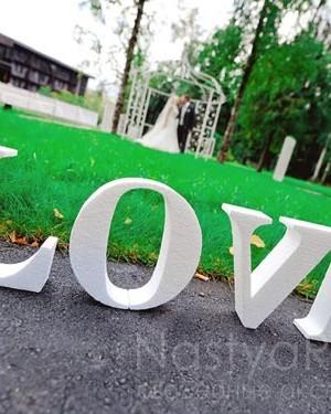 продажа Большое слово LOVE белое