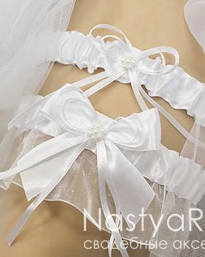 продажа Набор белых подвязок