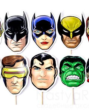 продажа Набор из 10 масок супергероев